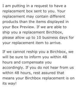 birchbox email