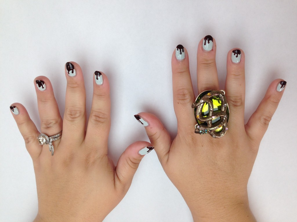 halloween nails both hands