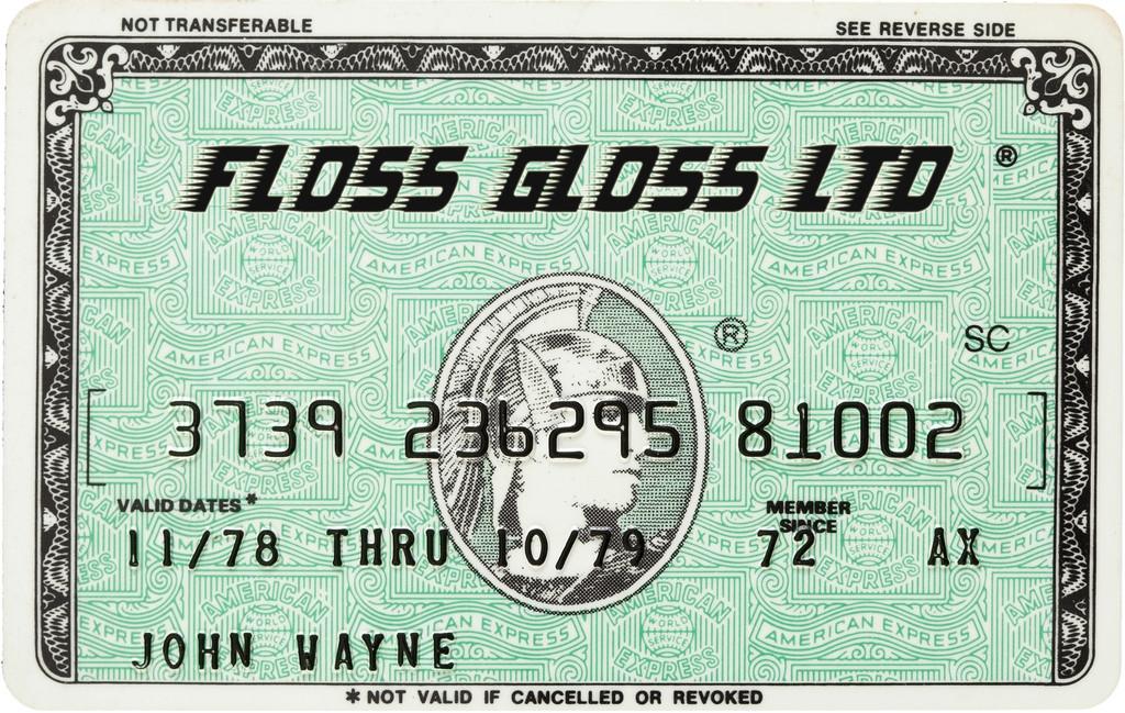 floss gloss card