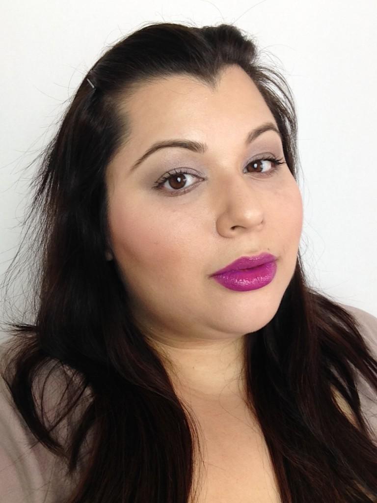 maybelline elixir vision in violet face