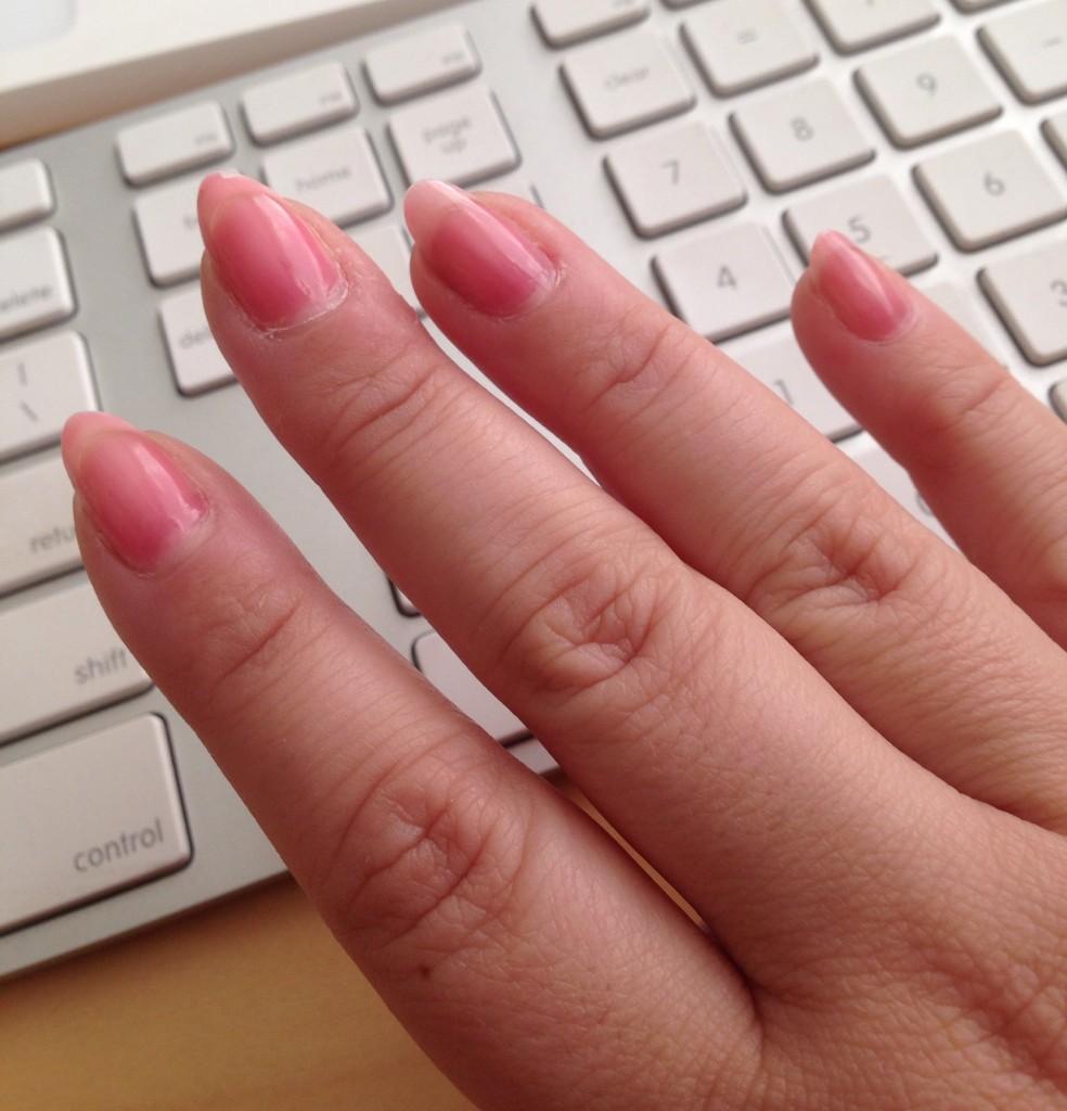 nails inc base coat swatch