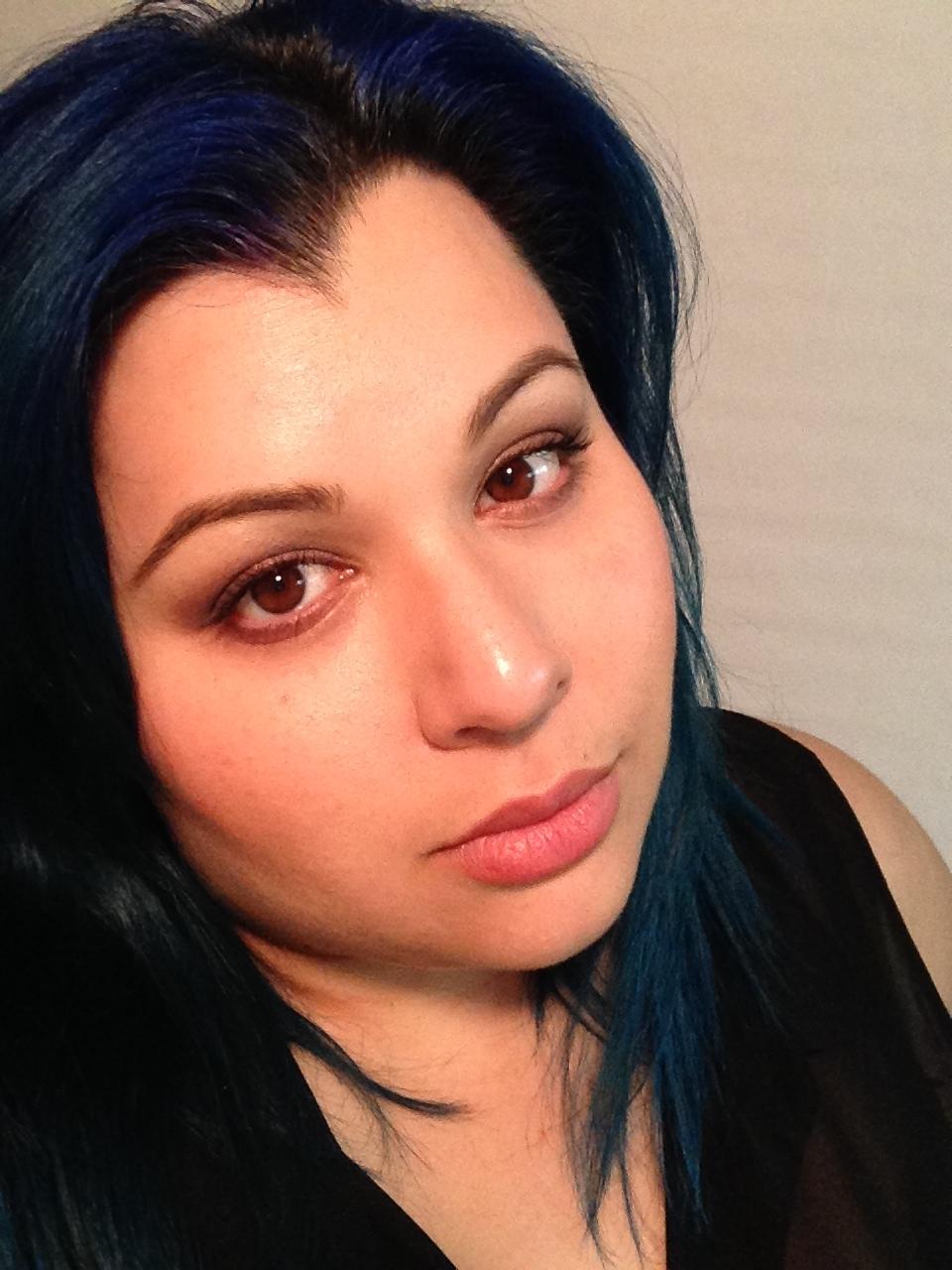 random blue hair